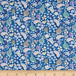 Liberty Fabrics Jersey Knit Fruitful Blue/Multi