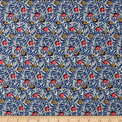 Liberty Fabrics Jersey Knit Huckleberry Blue/Grey Fabric