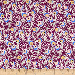 Liberty Fabrics Jersey Knit Huckleberry Purple/Grey