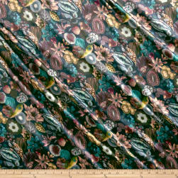 Liberty Fabrics Belgravia Silk Satin Charmeuse Earthly Delights Melon/Multi