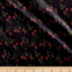 Liberty Fabrics Belgravia Silk Charmeuse Satin Strawberry Fields