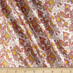 Liberty Fabrics Belgravia Silk Satin Charmeuse Lemon Flowers