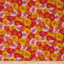 Poppy Garden Poppy Collage Multi Bright Fabric