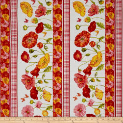 Poppy Garden Poppy Garden Stripe White Fabric