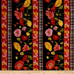 Poppy Garden Poppy Garden Stripe Black Fabric