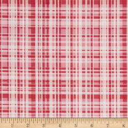 Poppy Garden Garden Plaid Raspberry Fabric