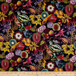 Liberty Fabrics Tana Lawn Earthly Delights Fuchsia/Multi