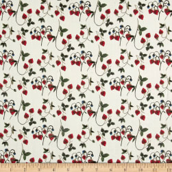 Liberty Fabrics Tana Lawn Strawberry Fields Cherry/Cream