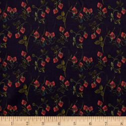Liberty Fabrics Tana Lawn Strawberry Fields Navy Bleu/Green/Red