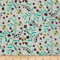 Liberty Fabrics Tana Lawn Berry Dream White/Purp/Yellow Fabric