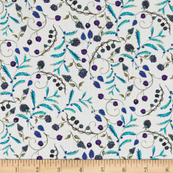 Liberty Fabrics Tana Lawn Berry Dream White/Aqua