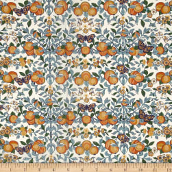 Liberty Fabrics Tana Lawn Orchard Orange/Blue