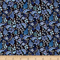 Liberty Fabrics Tana Lawn Fruitful Navy Blue/Multi