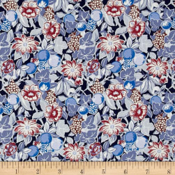 Liberty Fabrics Tana Lawn Bourdeaux Blue/Red