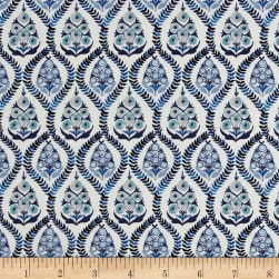 Liberty Fabrics Tana Lawn Bohemia Blue/Cream Fabric
