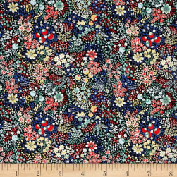 Liberty Fabrics Tana Lawn Elderberry Red/Blue/Multi