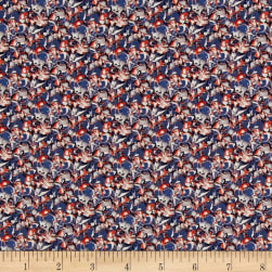 Liberty Fabrics Tana Lawn Alba Red/Blue Fabric