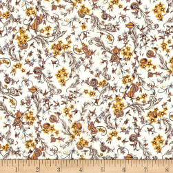 Liberty Fabrics Tana Lawn Pomegranate Paradise Yellow/White