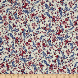 Liberty Fabrics Tana Lawn Pomegranate Paradise Red/Blue/Pink