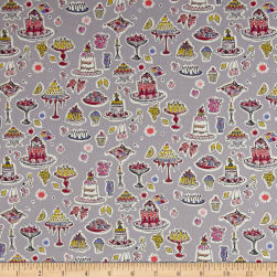 Liberty Fabrics Tana Lawn High Tea Grey/Yellow Fabric