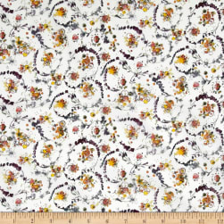 Liberty Fabrics Tana Lawn Floral Thyme White/Purple Fabric