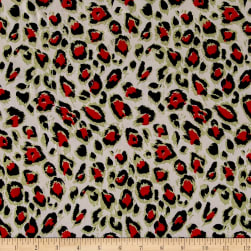 ITY Knit Leopard Spots Black/Red/Seafoam