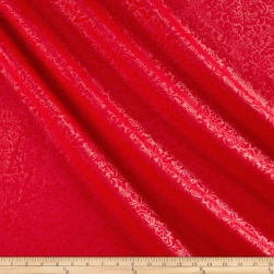Techno Embossed Double Knit Damask Red Fabric