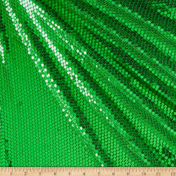 Mini Sequin Mesh Lime Green