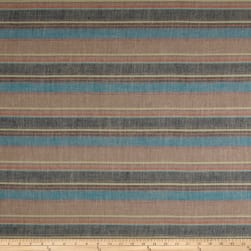 Striped Basketweave Distressed Multi Fabric