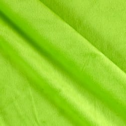 Solid Minky Plush Dark Lime Fabric