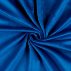 Solid Minky Plush Royal Blue Fabric