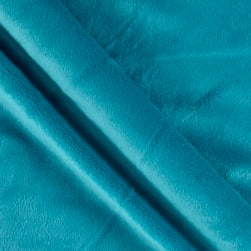 Solid Minky Plush Teal Fabric