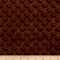 Minky Plush Dot Brown Fabric