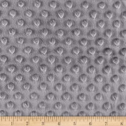 Minky Plush Dot Charcoal Fabric