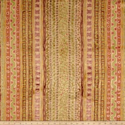 Clarence House Montague Velvet Apricot Fabric