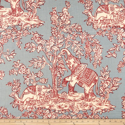 Clarence House Ile Des Elephants 100% Linen French Blue/Rogue