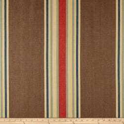 Clarence House Pembridge Stripe Basketweave Brown Fabric