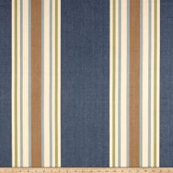 Clarence House Pembridge Stripe Canvas Blue Fabric