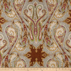 Clarence House Babylon 100% Linen Brown Fabric
