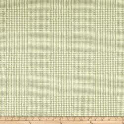 Clarence House Houndstooth Plaid Pale Green Fabric