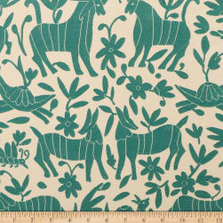 Artistry Fiesta Otomi Jacquard Teal Fabric