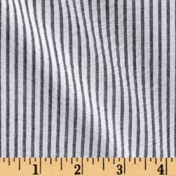 Metallic Seersucker Stripe Gray Fabric