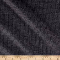 Merino Wool Suiting Small Stripes Gray