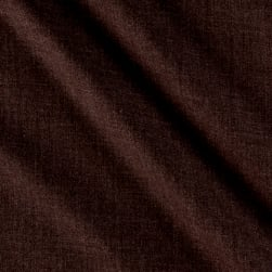 Merino Wool Suiting Solid Brown Fabric