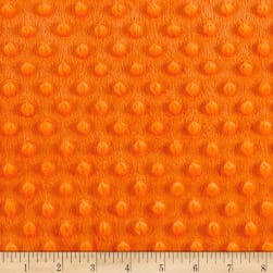 Minky Plush Dot Orange Fabric