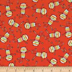 Michael Miller Rainbow Rainbow Cats Orange Fabric