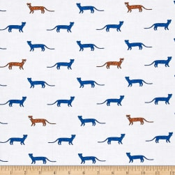 Michael Miller Trekking You're A Cheetah Azure Fabric