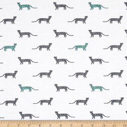 Michael Miller Trekking You're A Cheetah Gray Fabric