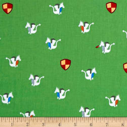 Michael Miller Good Knight Magic Dragon Moss Fabric