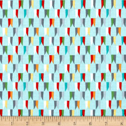 Michael Miller Good Knight Banner Day Aqua Fabric